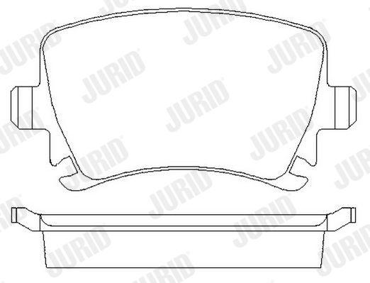 573158J Bremsbelagsatz JURID - Markenprodukte billig