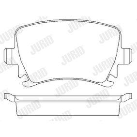 573158J Bremsbelagsatz, Scheibenbremse JURID 23914 - Große Auswahl - stark reduziert