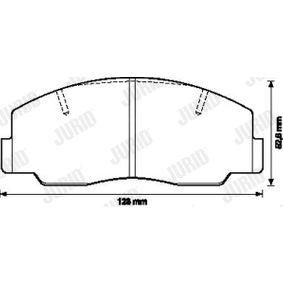 573299J Bremsbelagsatz, Scheibenbremse JURID 24822 - Große Auswahl - stark reduziert