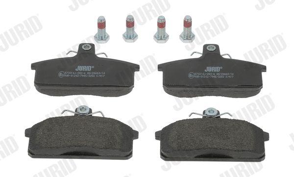 573314 JURID nicht für Verschleißwarnanzeiger vorbereitet Höhe 1: 62mm, Dicke/Stärke: 14,2mm Bremsbelagsatz, Scheibenbremse 573314J günstig kaufen