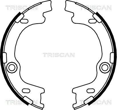 TRISCAN Bremsbackensatz, Feststellbremse 8100 43021