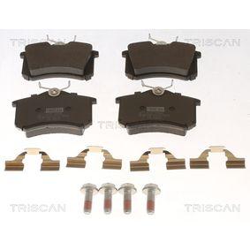 8110 10544 TRISCAN nicht für Verschleißwarnanzeiger vorbereitet, mit Zubehör Höhe: 52,9mm, Breite: 87mm, Dicke/Stärke: 16mm Bremsbelagsatz, Scheibenbremse 8110 10544 günstig kaufen