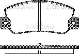 8110 15993 TRISCAN nicht für Verschleißwarnanzeiger vorbereitet Höhe: 47mm, Breite: 108,8mm, Dicke/Stärke: 12mm Bremsbelagsatz, Scheibenbremse 8110 15993 günstig kaufen