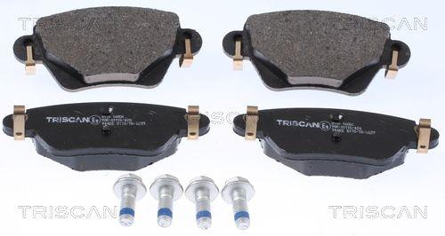 8110 16006 TRISCAN mit akustischer Verschleißwarnung Höhe: 51,9mm, Breite: 115,9mm, Dicke/Stärke: 16,8mm Bremsbelagsatz, Scheibenbremse 8110 16006 günstig kaufen