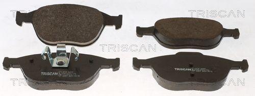 8110 16012 TRISCAN nicht für Verschleißwarnanzeiger vorbereitet Höhe: 62,8mm, Breite: 156,4mm, Dicke/Stärke: 18,1mm Bremsbelagsatz, Scheibenbremse 8110 16012 günstig kaufen