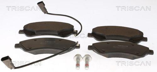 8110 16017 TRISCAN inkl. Verschleißwarnkontakt Höhe: 65,4mm, Breite: 164,8mm, Dicke/Stärke: 18,8mm Bremsbelagsatz, Scheibenbremse 8110 16017 günstig kaufen