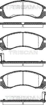 Bremsbeläge TRISCAN 8110 42002