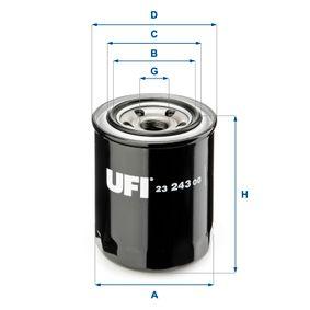 23.243.00 UFI mit einem Rücklaufsperrventil Innendurchmesser 2: 55,0mm, Ø: 82,0mm, Außendurchmesser 2: 63,0mm, Höhe: 99,5mm Ölfilter 23.243.00 günstig kaufen