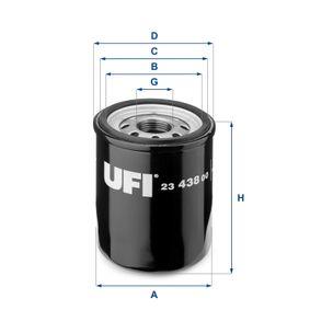 23.438.00 Filtro olio UFI prodotti di marca a buon mercato