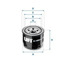 23.485.00 UFI mit einem Rücklaufsperrventil Innendurchmesser 2: 56,0mm, Ø: 76,0mm, Außendurchmesser 2: 64,0mm, Höhe: 66,0mm Ölfilter 23.485.00 günstig kaufen