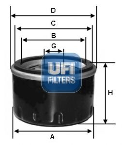 Original HYUNDAI Oil filter 23.545.00