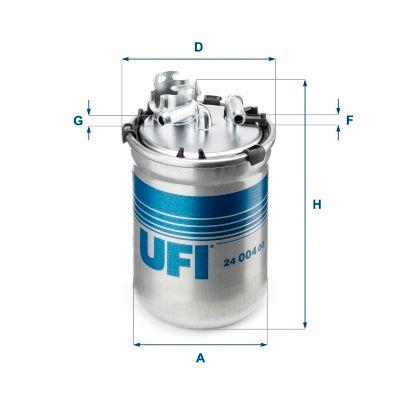 Skoda SUPERB UFI Palivový filtr 24.004.00