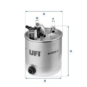 24.026.01 Kraftstofffilter UFI Test