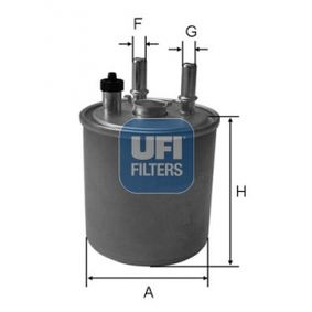 24.073.00 UFI Höhe: 155,0mm Kraftstofffilter 24.073.00 günstig kaufen