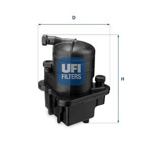24.087.00 UFI Höhe: 188,0mm Kraftstofffilter 24.087.00 günstig kaufen