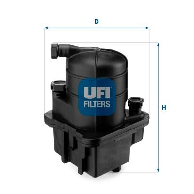 24.088.00 UFI Leitungsfilter Höhe: 188,0mm Kraftstofffilter 24.088.00 günstig kaufen