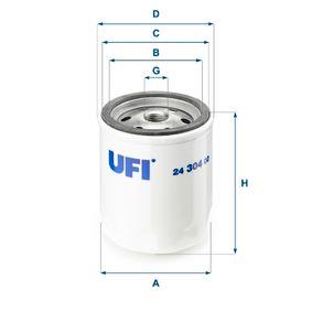 24.304.00 UFI Höhe: 92,0mm Kraftstofffilter 24.304.00 günstig kaufen