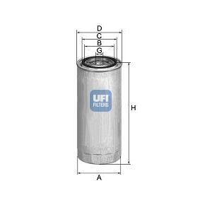 24.304.01 UFI Höhe: 92,0mm Kraftstofffilter 24.304.01 günstig kaufen