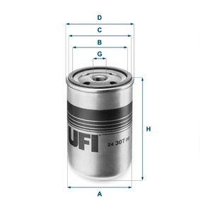 Kraftstofffilter UFI 24.307.00 mit 31% Rabatt kaufen