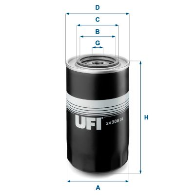 24.308.00 UFI Fuel filter for IVECO TurboStar - buy now