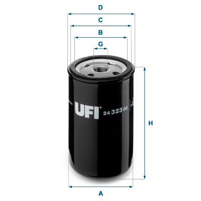 24.323.00 UFI Degvielas filtrs MAN G - iegādāties tagad