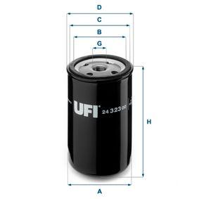 Kraftstofffilter UFI 24.323.00 mit 33% Rabatt kaufen