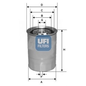 buy and replace Fuel filter UFI 24.327.00