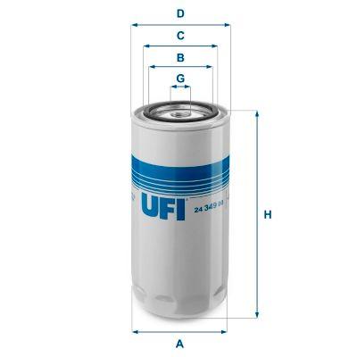 UFI Kraftstofffilter für AVIA - Artikelnummer: 24.349.00