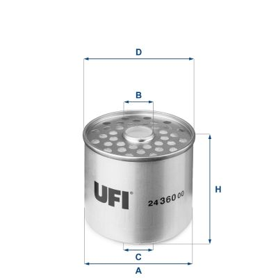 24.360.00 Leitungsfilter UFI in Original Qualität