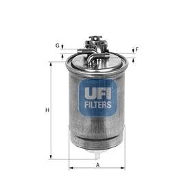 24.425.00 UFI Höhe: 153,0mm Kraftstofffilter 24.425.00 günstig kaufen