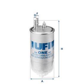 24.ONE.01 Filtro carburante UFI esperienza a prezzi scontati