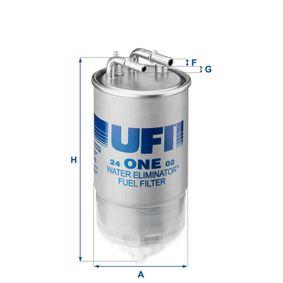 Comprare 24.ONE.02 UFI Alt.: 193,0mm Filtro carburante 24.ONE.02 poco costoso