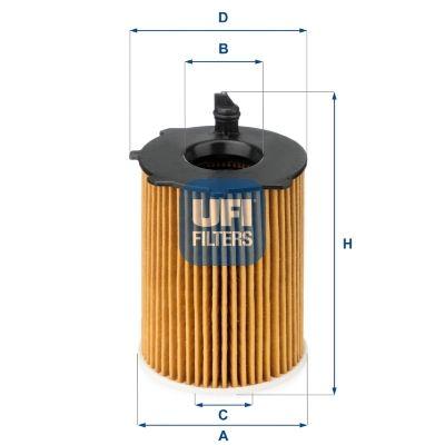 25.037.00 Filtro olio UFI Test
