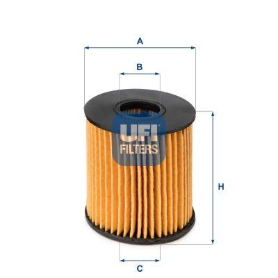 25.060.00 Filtro olio UFI prodotti di marca a buon mercato