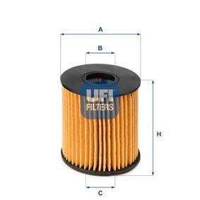 25.060.00 Filtre à huile UFI - Produits de marque bon marché