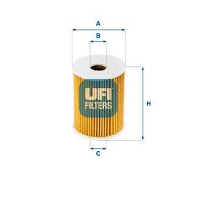 25.091.00 UFI Innendurchmesser 2: 21,0mm, Ø: 65,0mm, Höhe: 82,0mm Ölfilter 25.091.00 günstig kaufen