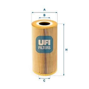 Achat de 25.095.00 UFI Diamètre intérieur 2: 35,0mm, Ø: 83,0mm, Hauteur: 170,0mm Filtre à huile 25.095.00 pas chères