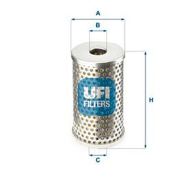 Comprare 25.406.01 UFI Diametro interno 2: 18,0mm, Ø: 58,5mm, Alt.: 101,0mm Filtro olio 25.406.01 poco costoso