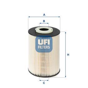 Pirkti 26.020.00 UFI aukštis: 114,0mm Kuro filtras 26.020.00 nebrangu