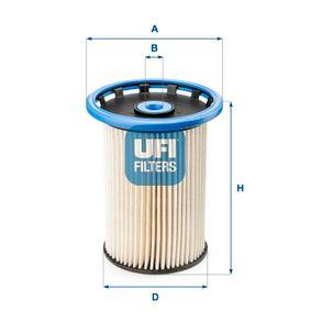 26.025.00 UFI H: 122,5mm Bränslefilter 26.025.00 köp lågt pris