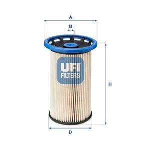 26.026.00 UFI H: 134,5mm Bränslefilter 26.026.00 köp lågt pris