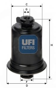 Original DAIHATSU Kraftstofffilter 31.523.00