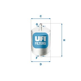 Moto UFI Height: 94,0mm Fuel filter 31.760.00 cheap