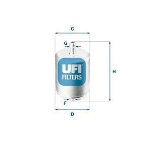 Ostaa moottoripyörän UFI Korkeus: 94,0mm Polttoainesuodatin 31.760.00 edullisesti