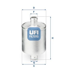 Japanparts FO-GAS2S Filtro combustible