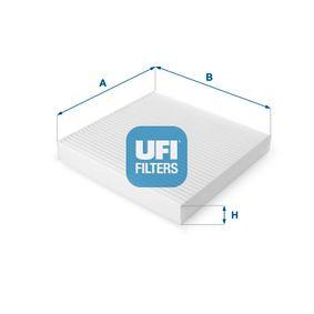 Filtr, wentylacja przestrzeni pasażerskiej UFI 53.123.00 kupić i wymienić