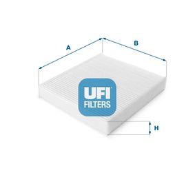 53.129.00 UFI B: 210,0mm, H: 35,0mm, L: 230,0mm Filter, kupéventilation 53.129.00 köp lågt pris
