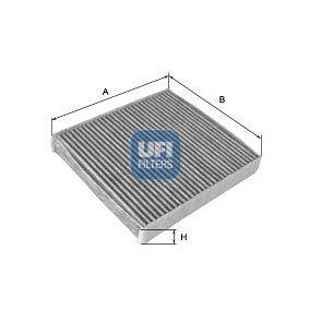54.105.00 UFI Charcoal Filter Width: 226,0mm, Height: 20,0mm, Length: 290,0mm Filter, interior air 54.105.00 cheap