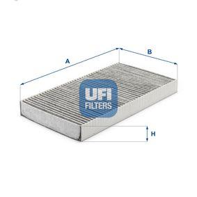 54.107.00 UFI Charcoal Filter Width: 160,0mm, Height: 30,0mm, Length: 290,0mm Filter, interior air 54.107.00 cheap