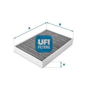 54.159.00 UFI Aktivkohlefilter Breite: 195,0mm, Höhe: 35,0mm, Länge: 282,0mm Filter, Innenraumluft 54.159.00 günstig kaufen
